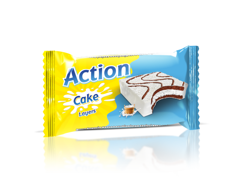 Action Cake Layers Coconut